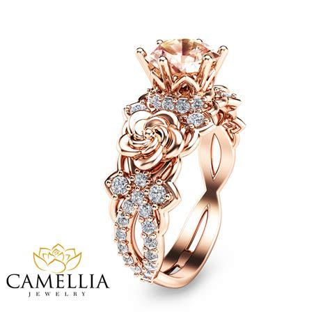 14k gold morganite engagement ring unique morganite