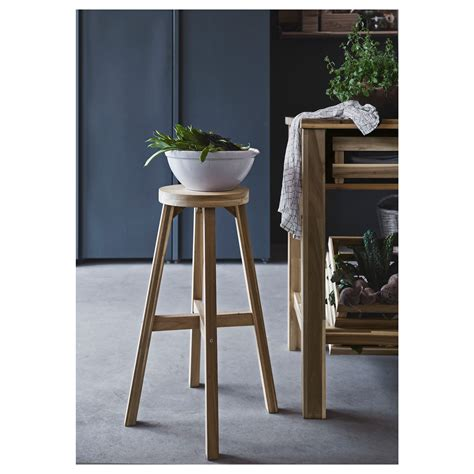 ikea wooden bar stool skogsta bar stool acacia 48x70 cm ikea