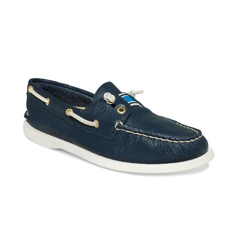sperry top sider lexington boat shoes in blue navy lyst - Blue Sperry Boat Shoes