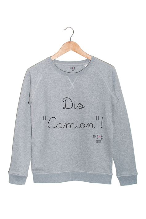 Sweat And le camionneuse dis camion sweat pull femme