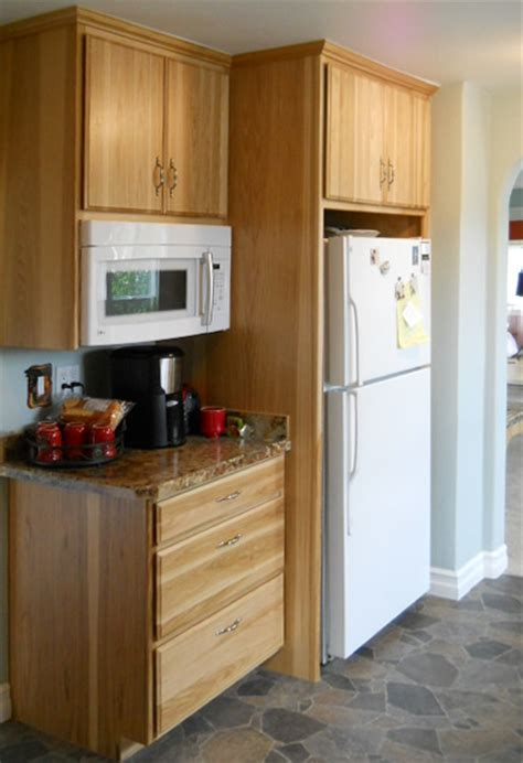 kitchen microwave cabinet kitchens remodeled spokane contractor