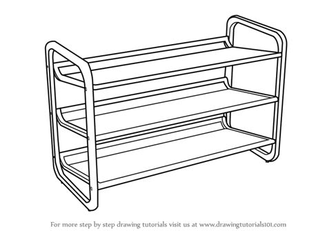 how to draw bedroom step by step learn how to draw shoe rack furniture step by step