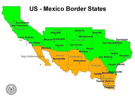 map de mexico y usa usa cd obregon en sonora fierro por la 200