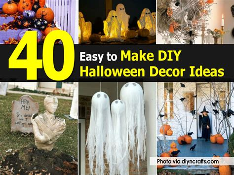 how to make halloween decorations at home 40 easy to make diy halloween decor ideas