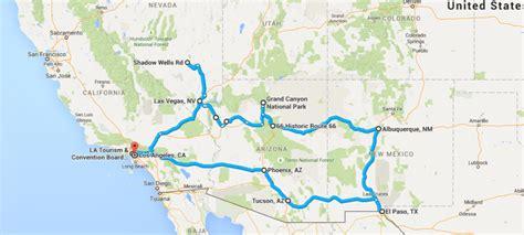 us best road trip map southwest american road trip atc