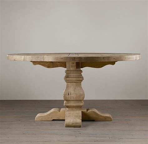Salvaged Wood Trestle Dining Table Rh S Salvaged Wood Trestle Dining Table Handsomely Distressed Our Table Is Crafted Of