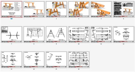 plan set timber frame swing set plan timber frame hq