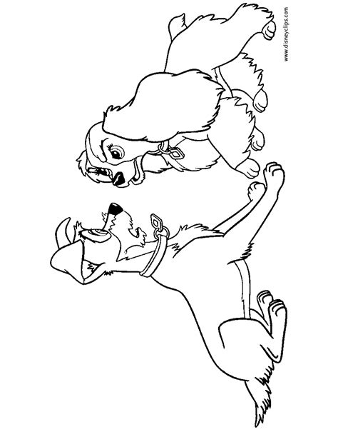 lady and the tr printable coloring pages 2 disney