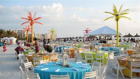 Outdoor Caribbean Beach Themed Event by Wizard Connection