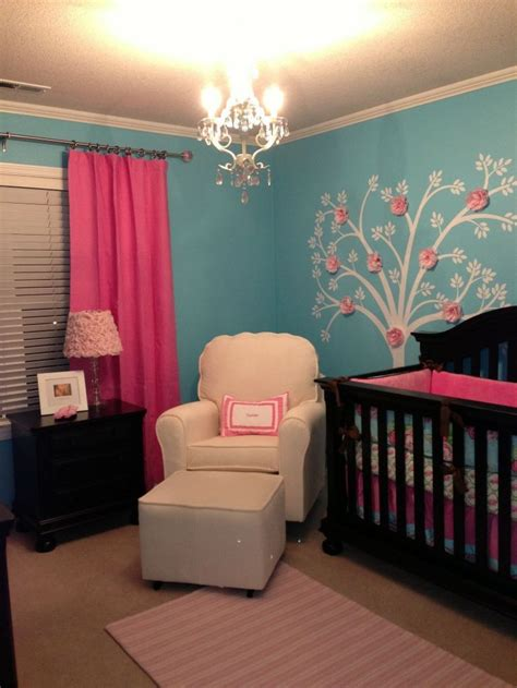really pretty rooms emerson s pink and turquoise nursery turquoise nursery and nursery