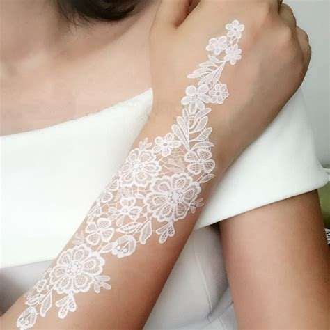 white temporary tattoo aliexpress buy 10pcs black white henna lace