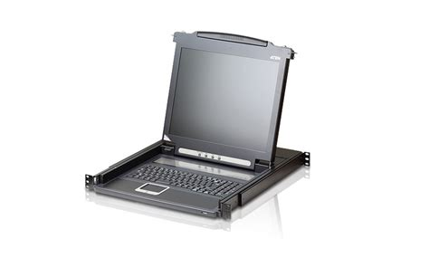 Aten 17 Inch 16 Port Lcd Kvm Cl5716m aten cl1000m 17 inch cl1000 lcd console drawer comms express