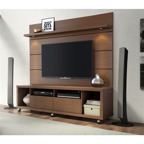 manhattan comfort cabrini  tv stand  panel tv wall