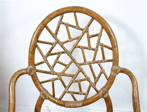 spider web chair quot spider web quot bamboo and caned chair at 1stdibs