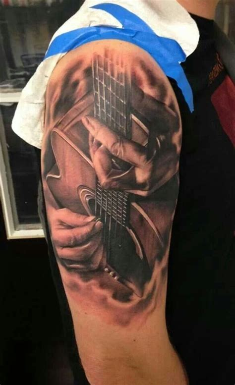 acoustic guitar tattoo 1000 images about guitar tattoos on