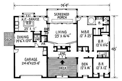 Colonial Style House Plan 4 Beds 350 Baths 2500 Sqft Plan Simple House Plans 2500 Square