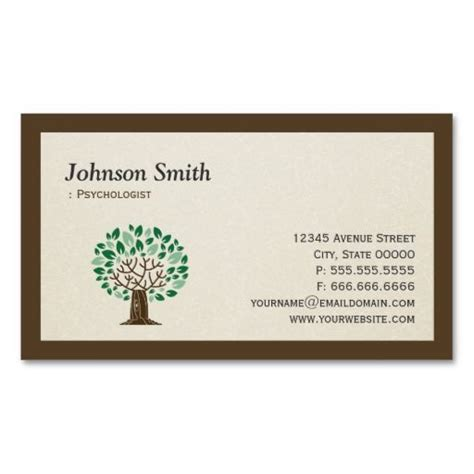 psychology business cards templates 271 best images about psychology business cards on