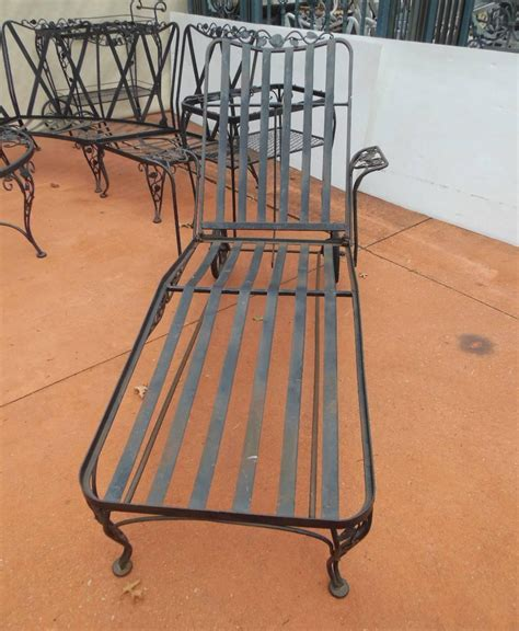 Woodard Wrought Iron Patio Furniture Woodard Patio Set Chantilly Pattern 11 Pieces Wrought Iron At 1stdibs