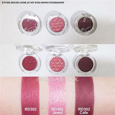 Etude Eyeshadow swatches of etude house look at my mono eyeshadows