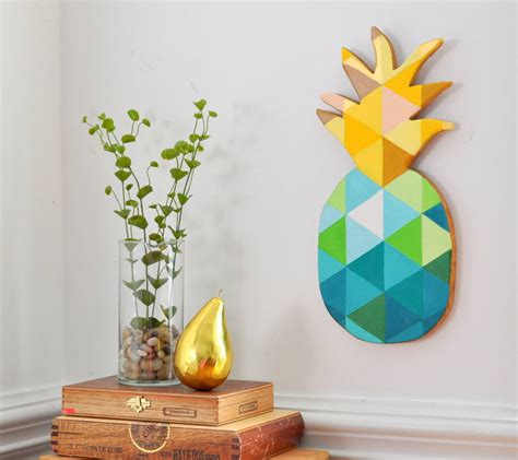 diy painted geometric pineapple made in a day