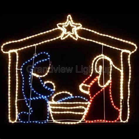 124cm wide motif rope lights nativity easter decoration