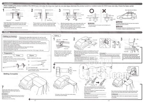 awning instructions awning instructions pages 2 and 3