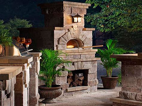 Kitchens With Brick Walls Outdoor Fireplace Pizza Oven Outdoor Pizza Oven Fireplace Combo
