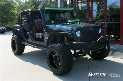 jeep wrangler   black rhino predator wheels exclusively  butler tires  wheels