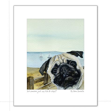 pug fish pug print fish chips the laughed