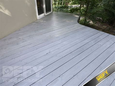 gray deck deck stained with defy extreme wood stain in driftwood