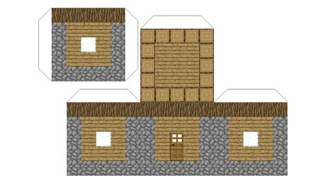 Minecraft Papercraft Big House - accessories minecraft cutouts