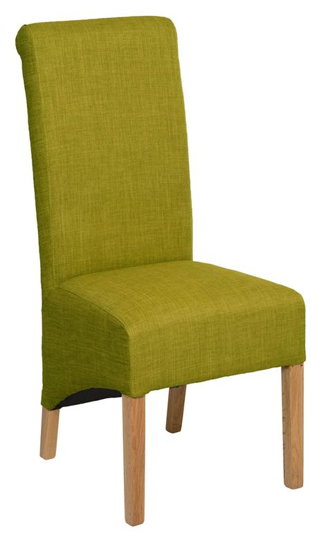 Roll Top Olive Green Fabric Dining Chair Dining Chairs Green Dining Chair