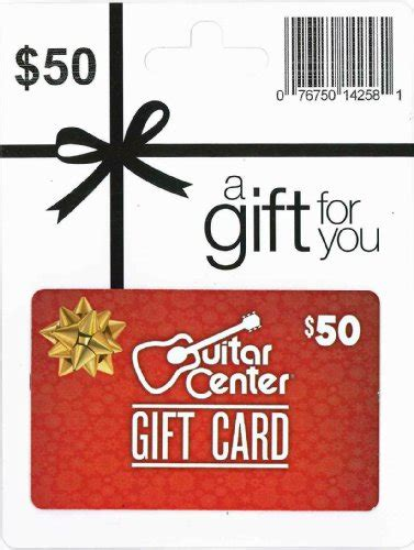 Guitar Center Gift Card - guitar center holiday gift card 50 arts entertainment party celebration giving cards