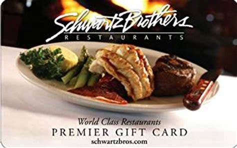 Amazon Restaurant Gift Cards - amazon com schwartz brothers restaurants gift card 25 gift cards