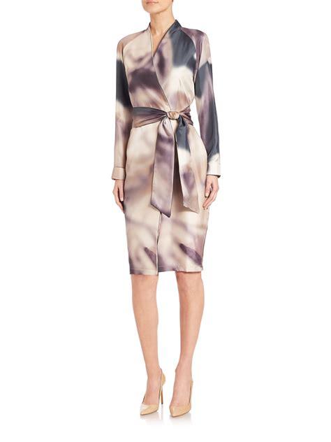 Maxmara Silk Choco max mara stresa silk watercolor dress lyst