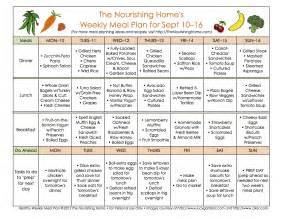 Meal plan monday september 3 16 the nourishing home