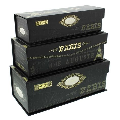 pretty storage boxes set of 3 tri coastal paris nights