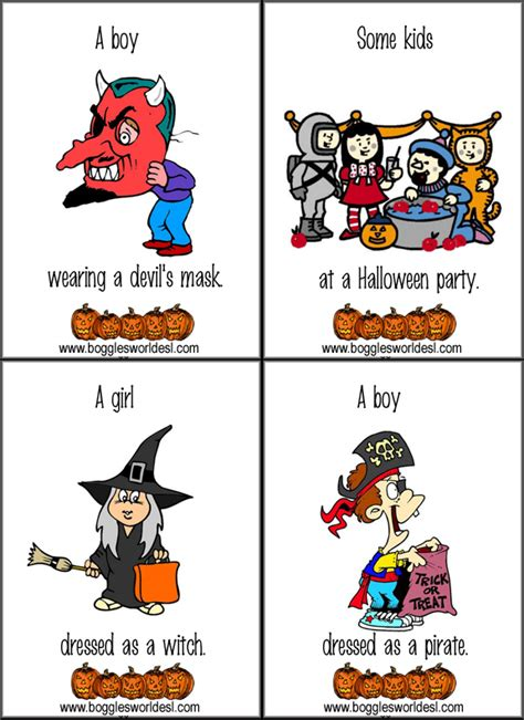 halloween flashcards printable halloween flashcards
