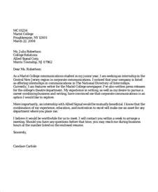 9 application letters for internship free sle