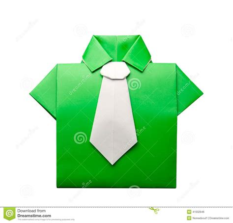 Origami Tie - origami shirt with tie stock illustration image 41032946