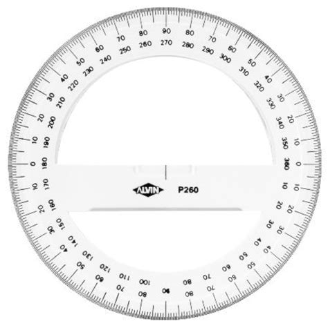 circle protractor template protractor circle 6 inch du all drafting supply