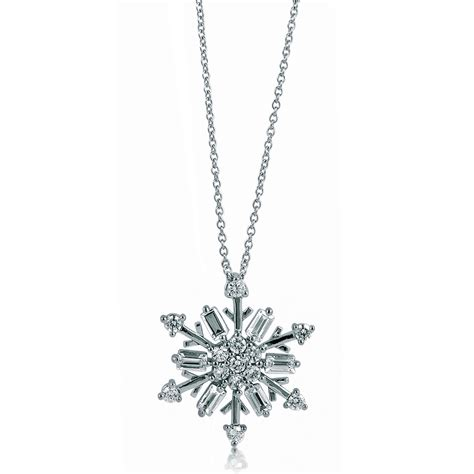 Sterling Silver Snowflake Pendant sterling silver 925 cz snowflake pendant necklace new ebay