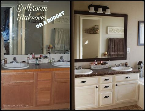 bathroom ideas cheap makeovers bathroom redo master mini makeover budget bathroom ideas
