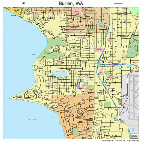 burien washington street map 5308850