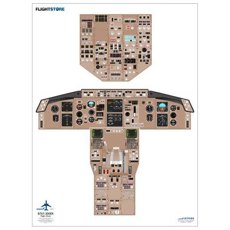 777 cabin layout boeing 767 300 airliner cockpit poster