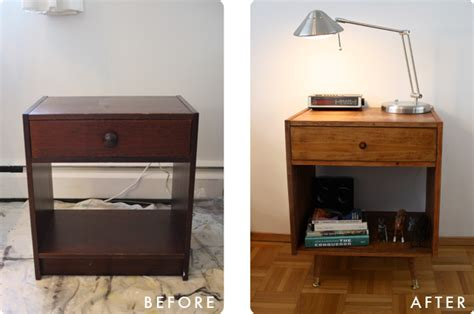 Childhood Nightstand Goes Mid Century   IKEA Hackers