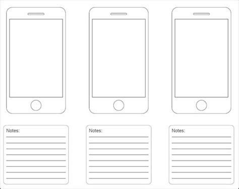 iphone website layout template 20 free printable sketching and wireframing templates