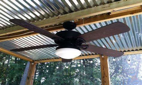 metal roof ceiling patio ceiling fans with lights corrugated metal roof