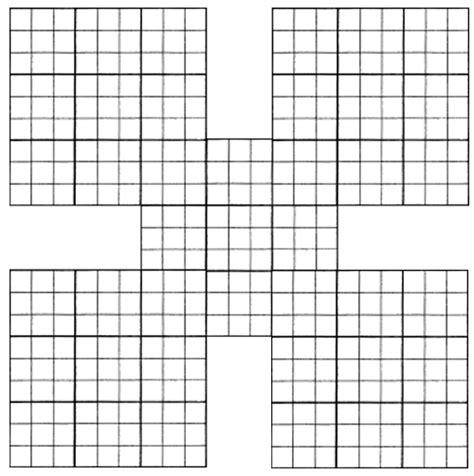 printable sudoku blank blank printable samurai sudoko grid