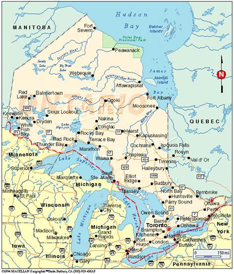 map of ontario ontario map